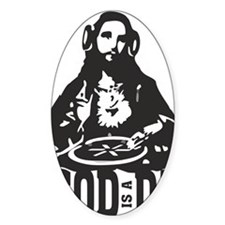 God is a Dj Decal