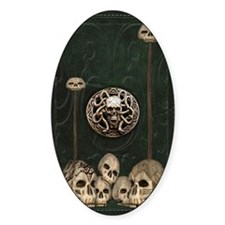 Green Book with Skulls Decal