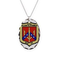 uss william h. standley dlg pa Necklace Oval Charm