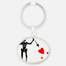 Stede Bonnet Jolly Roger Pirate Flag Oval Keychain