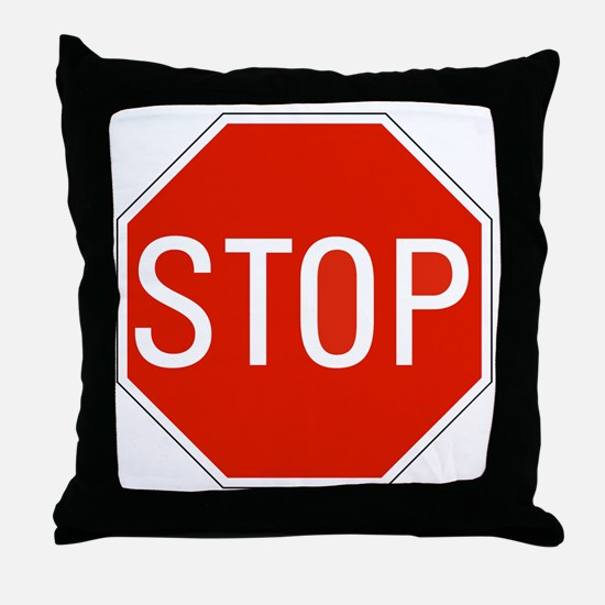 stop sign 10x10 Throw Pillow