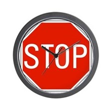 stop sign 10x10 Wall Clock