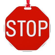 stop sign 10x10 Ornament
