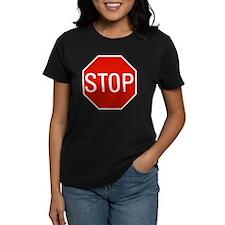 stop sign 10x10 Tee