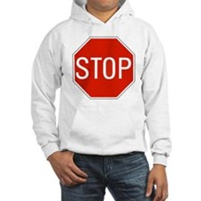 stop sign 10x10 Hoodie