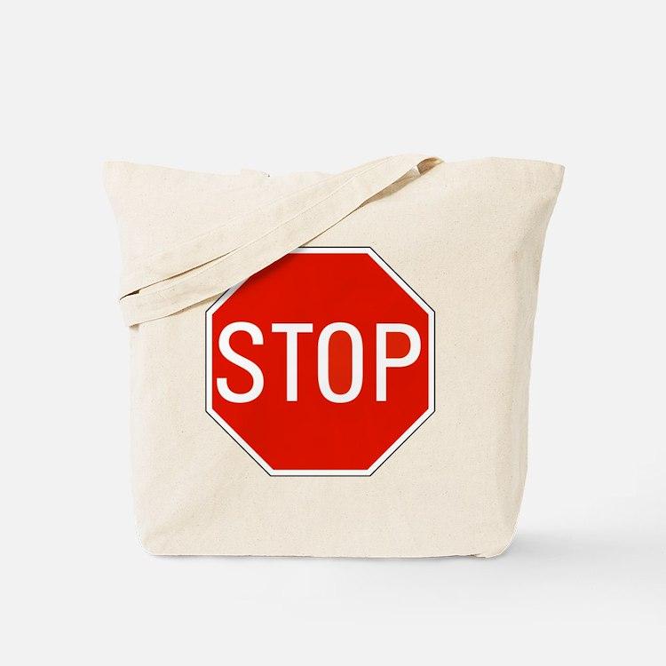 stop sign 10x10 Tote Bag