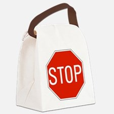 stop sign 10x10 Canvas Lunch Bag