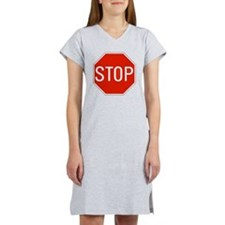 stop sign 10x10 Women's Nightshirt
