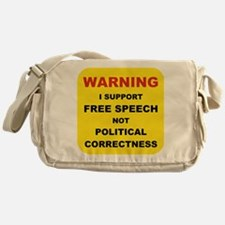 WARNING I SUPPORT FREE SPEECH... Messenger Bag