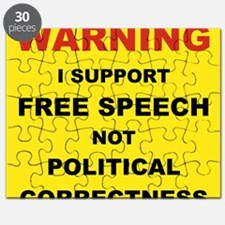 WARNING I SUPPORT FREE SPEECH... Puzzle