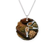 Assortment of herbal teas on Necklace