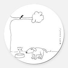 BIRD DOO DOG Round Car Magnet