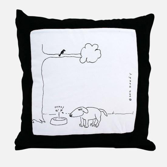 BIRD DOO DOG Throw Pillow