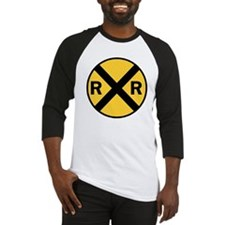 Rail Road Crossing Sign Baseball Jersey