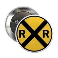 """Rail Road Crossing Sign 2.25"""" Button"""