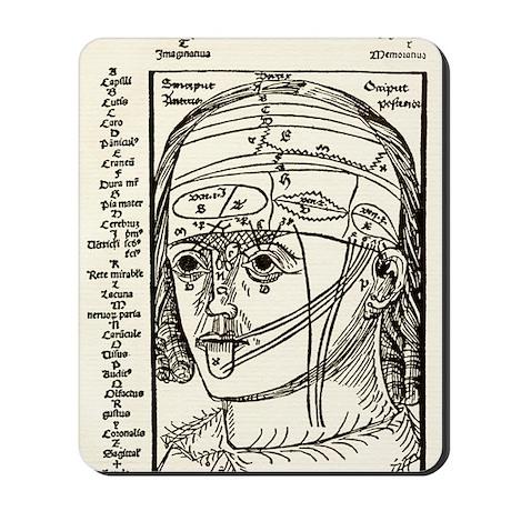 Brain anatomy, 16th century diagram Mousepad