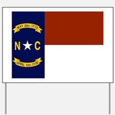 North Carolina United States Flag Yard Sign