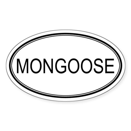 Oval Design: MONGOOSE Oval Sticker