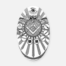 Masonic Working Tools Oval Car Magnet