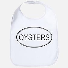 Oval Design: OYSTERS Bib