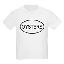 Oval Design: OYSTERS Kids T-Shirt
