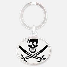 Calico Jack John Rackham Jolly Roger Oval Keychain