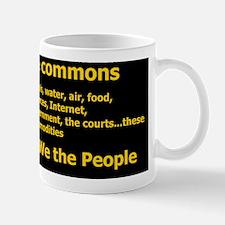 Reclaim the Commons list Mug