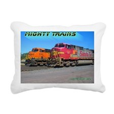 Mighty Trains Calendar Rectangular Canvas Pillow