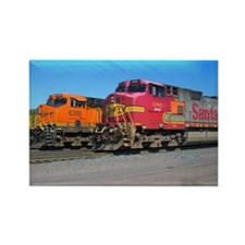Mighty Trains Calendar Rectangle Magnet
