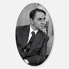 Carl Sagan, US astronomer Sticker (Oval)