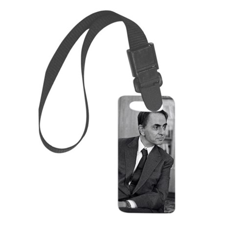 Carl Sagan, US astronomer Small Luggage Tag