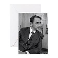 Carl Sagan, US astronomer Greeting Card
