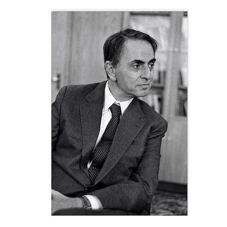 Carl Sagan, US astronomer Postcards (Package of 8)