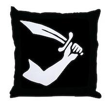 Thomas Tew Jolly Roger Pirate Flag Throw Pillow
