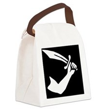 Thomas Tew Jolly Roger Pirate Fla Canvas Lunch Bag