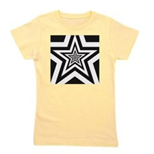 Pattern of black and white stars Girl's Tee
