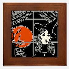 Moonlit Window Framed Tile