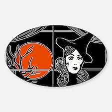 Moonlit Window Sticker (Oval)