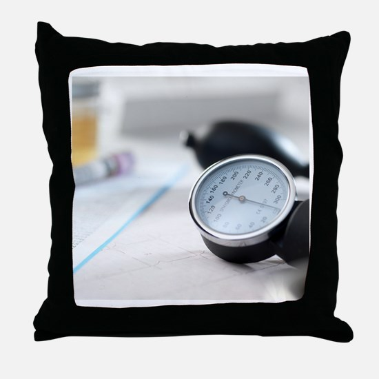 Blood pressure gauge Throw Pillow