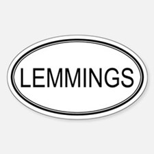 Oval Design: LEMMINGS Oval Decal