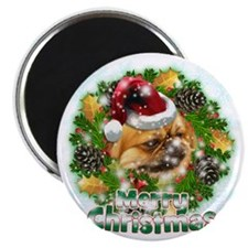 Merry Christmas Pekingnese Magnet