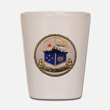 uss worden patch transparent Shot Glass