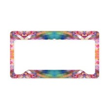 Multicolor Abstract (offset) License Plate Holder