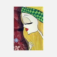 Lady Godiva Art Inspiration Rectangle Magnet