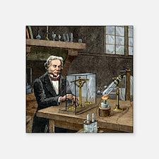"Faraday's electrolysis expe Square Sticker 3"" x 3"""