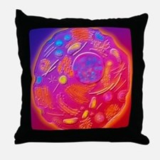Computer graphic of animal cell Throw Pillow