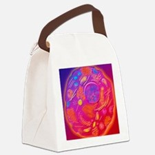 Computer graphic of animal cell Canvas Lunch Bag