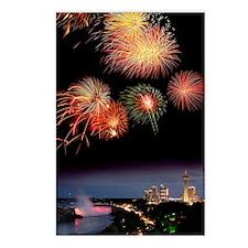 Fireworks display over Ni Postcards (Package of 8)