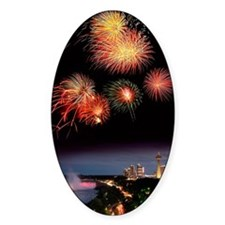 Fireworks display over Niagara Fall Decal