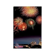 Fireworks display over Niagara Fa Rectangle Magnet